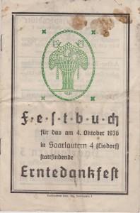Festbuch Erntedankfest
